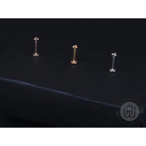 Piercing minimalista hármas pötty díszítéssel